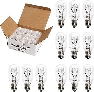 12 Pack Salt Lamp Bulbs,Wax Warmer Bulbs,Incandescent Bulbs,Replacement Light Bulbs for Himalayan Salt Lamps and Plug in Wax Diffusers,Salt Night Lights 25 Watt E12 Socket
