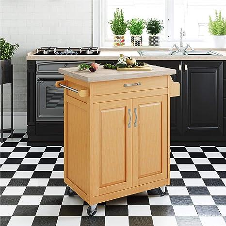 Dorel Living Kitchen Island Natural Amazon De Home Kitchen