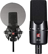 sE Electronics X1-A X1 Series Condenser Microphone and Clip + sE Electronics Isolation-Pack Shockmount and Pop Filter for ...