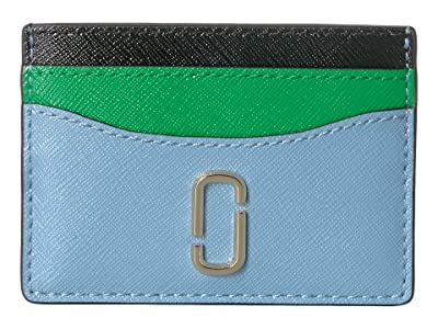 Marc Jacobs Snapshot Card Case (Misty Blue Multi) Credit card Wallet