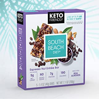South Beach Diet® Espresso Nut Entrée Bar (30 ct) - Delicious Bars Made to Support Healthy Weight Loss & Your Keto Lifestyle