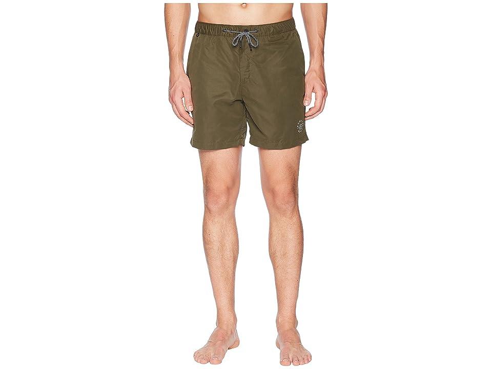 Scotch & Soda Medium length Mini-Motif Swim Shorts (Military) Men