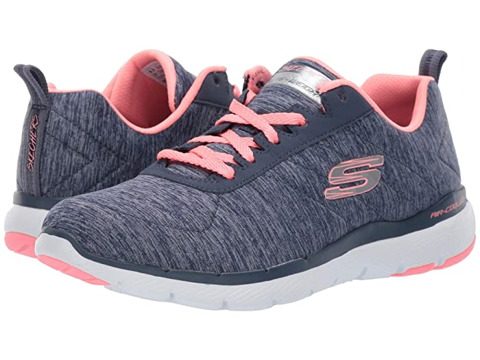 SKECHERS  Flex Appeal 3.0 - Insiders (Navy Coral) Womens Lace up casual Shoes