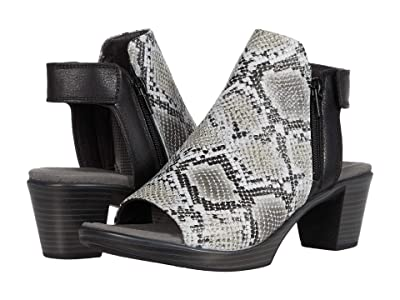 Naot Favorite (Gray Cobra Leather/Soft Black Leather) Women
