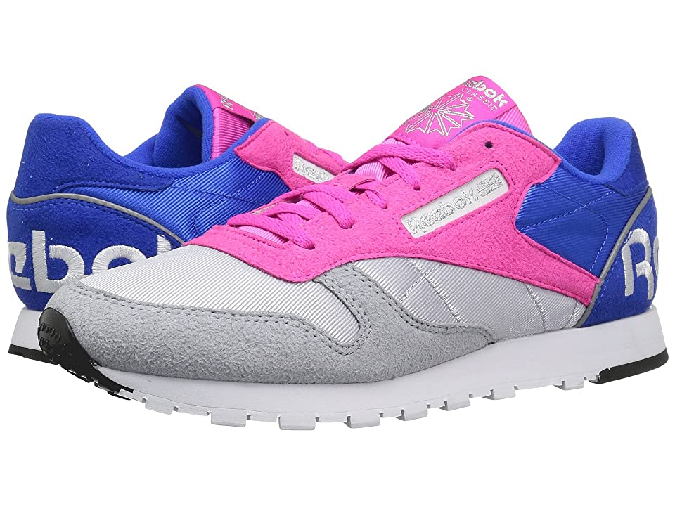 Reebok Lifestyle Classic Leather HH (Cloud Grey/Dynamic Pink/Vital Blue/White/Black/Silver) Women