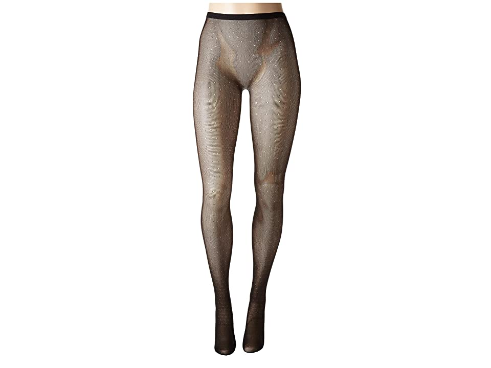 Natori Bristles Shine Net Tights-Fine Gauge Net Tights (Black) Hose