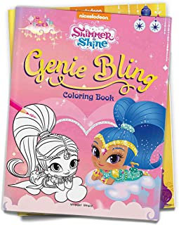 Genie Bling: Coloring Book for Kids (Shimmer & Shine) Paperback by Wonder House Books