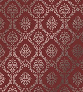 Large Wall Damask Stencil Faux Mural Design #1007 13