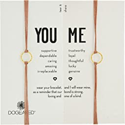 Dogeared Friendship Sparkle Ring Bracelet Set