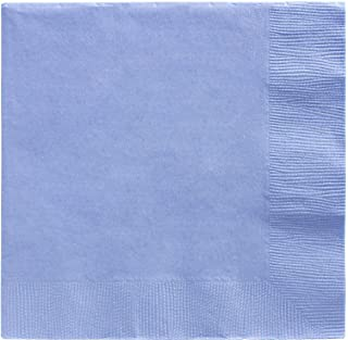 amscan Pastel Blue Beverage Paper Napkin Big Party Pack, 125 Ct.