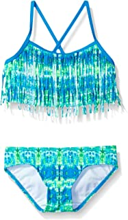 blue and green bikini