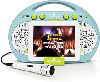 Singing Machine ISM398BG Karaoke System Home,Blue/Green