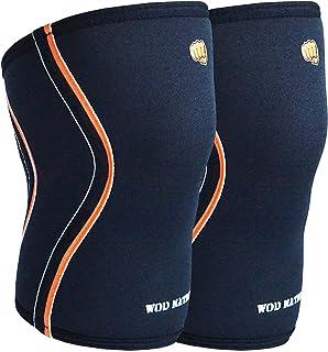 WOD Nation kniemouwen voor gewichtheffen (1 paar) Premium ondersteuning & compressie - Powerlifting & CrossFit - 5mm Neopr...