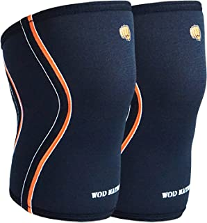 WOD Nation Knee Sleeves for Weightlifting (1 Pair) Premium Support & Compression - Powerlifting & Crossfit - 5mm Neoprene Sleeve for The Best Squats - Fits Both Women & Men
