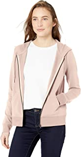 Daily Ritual Amazon Brand Women's Terry Cotton and Modal Full-Zip Hooded Sweatshirt