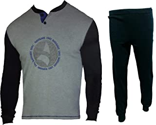 140862 Navigare Pigiama Uomo Lungo Cotone Jersey Homewear Art