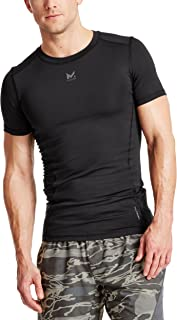 Mission Men's VaporActive Voltage Short Sleeve Compression Shirt, Moonless Night, Medium