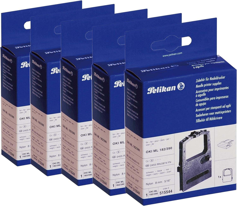 Pelikan 515544 Farbband Für Oki Ml 182 390 Universal Nylon Größe 8 Mm X 1 8 M Schwarz 5 Stück Küche Haushalt