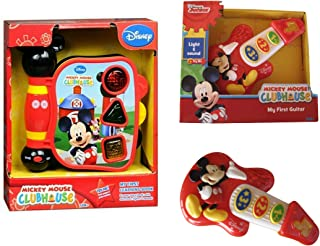 Mickey Mouse My First Learning Book Lights and Sounds + Mickey Mouse My First Guitar (2 Items)