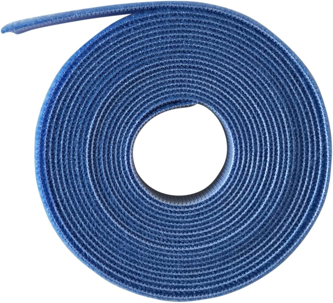 azul Marca VELCRO Gancho y bucle ONE-WRAP Back To Back en color azul de 2/cm de ancho 0.5M 50CMs