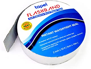 Tapel Butyl Repair Tape 2 in x 33 Ft- Waterproof and Insulation Tape- Leak Proof Putty Tape for RV, Silicone, Window, Deck, Pipe Sealing, Roof Patching- Permanently Stop Any Leak Problem