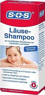 SOS Läuse-Shampoo, zuverlässige Befreiung von Kopfläusen und Nissen, besonders hautverträgliches Läuse Shampoo mit kurzer Einwirkzeit und natürlichem Wirkstoff, 1 x 100 ml