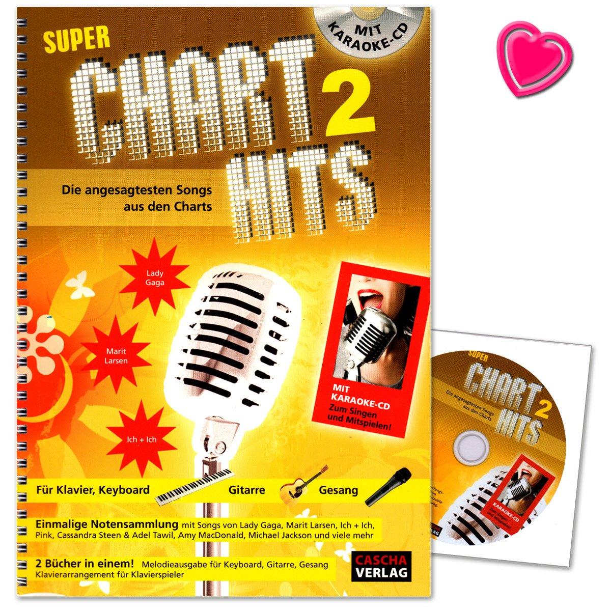 Super Chart Hits 2 – para Piano, Piano digital, teclado, guitarra ...