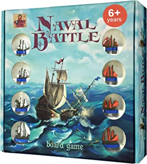 Naval Battle - Classic Battleship Board Game - Best 2 Player Board Games for Kids 6 and up - Develops Tactical, Strategic Problem Solving - Action Adventure for Boys, Girls, Families