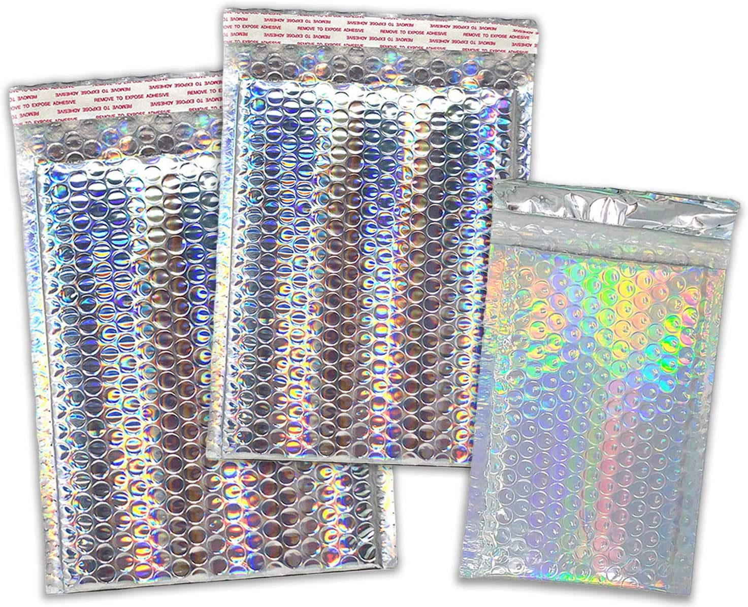 4x8 6X10 8X12 Assorted NEW ARRIVAL Combo Mailers Bubble 直送商品 Pack Holographic