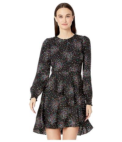 Kate Spade New York Confetti Cheer Smocked Dress (Black) Women
