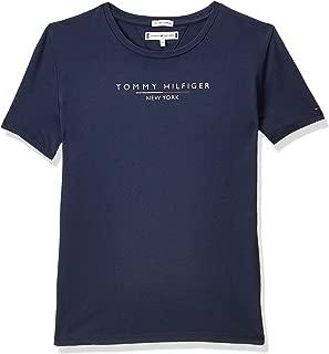 Tommy Hilfiger Girl's Essential Hilfiger Short Sleeve T-Shirt