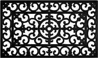 """Calloway Mills 900091830 Fleur De Lis Rubber Doormat, 18"""" x 30"""""""