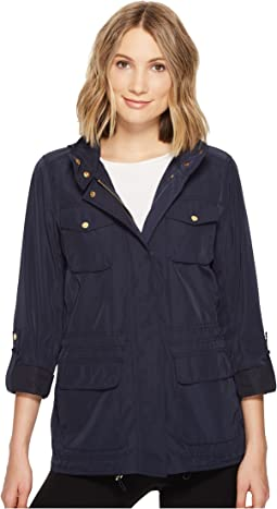 Four Pocket Parka with Drawstring Waist and Hem