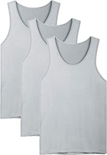 David Archy Men's Bamboo Rayon & Cotton Undershirts Crew Neck Tank Tops in 3 or 4 Pack
