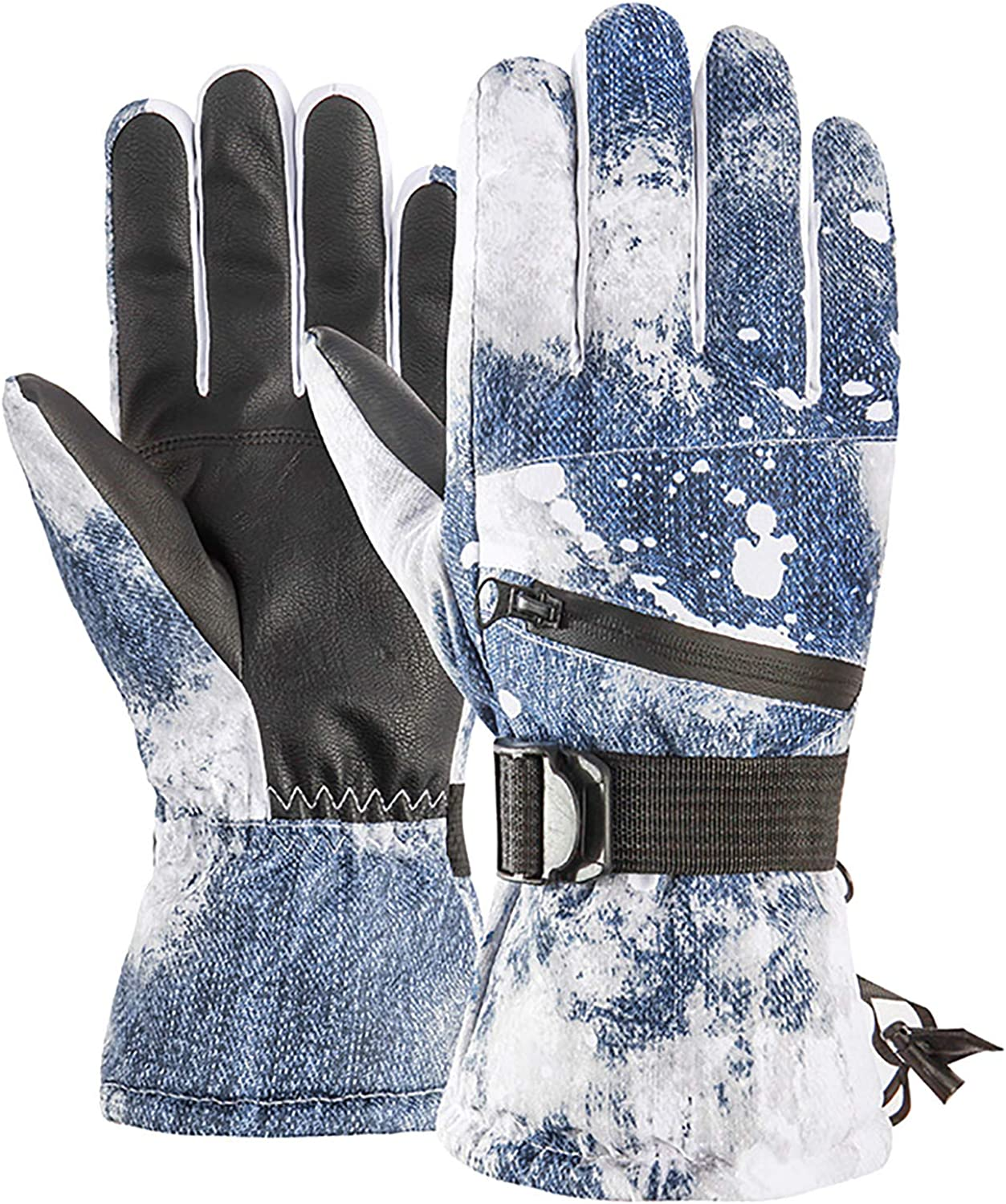 Men's and Women's Ski Gloves, Winter Cold, Warm, Waterproof, Adult Riding Gloves, Controllable Screen.