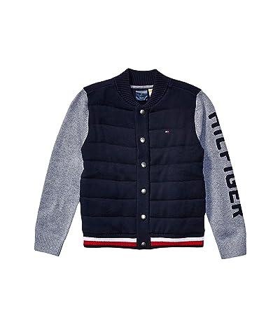 Tommy Hilfiger Adaptive Baseball Sweater (Little Kids/Big Kids) (Masters Navy) Men