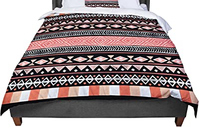 60 by 50 Kess InHouse Louise Machado Ethnic Love Tribal Geometric Fleece Throw Blanket