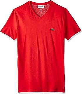 Lacoste Mens Short Sleeve V-Neck Pima Cotton Jersey T-Shirt