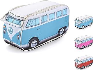 3 variantes Anik-Shop Funda para cigarrillos Volkswagen Bulli Bus T1 de piel color azul