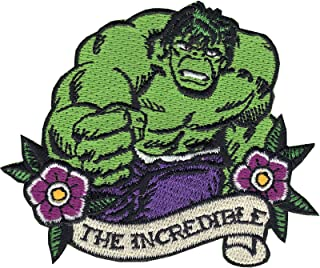 Official Marvel Comics Avengers Hulk 'The Incredible' Iron on Applique Patch