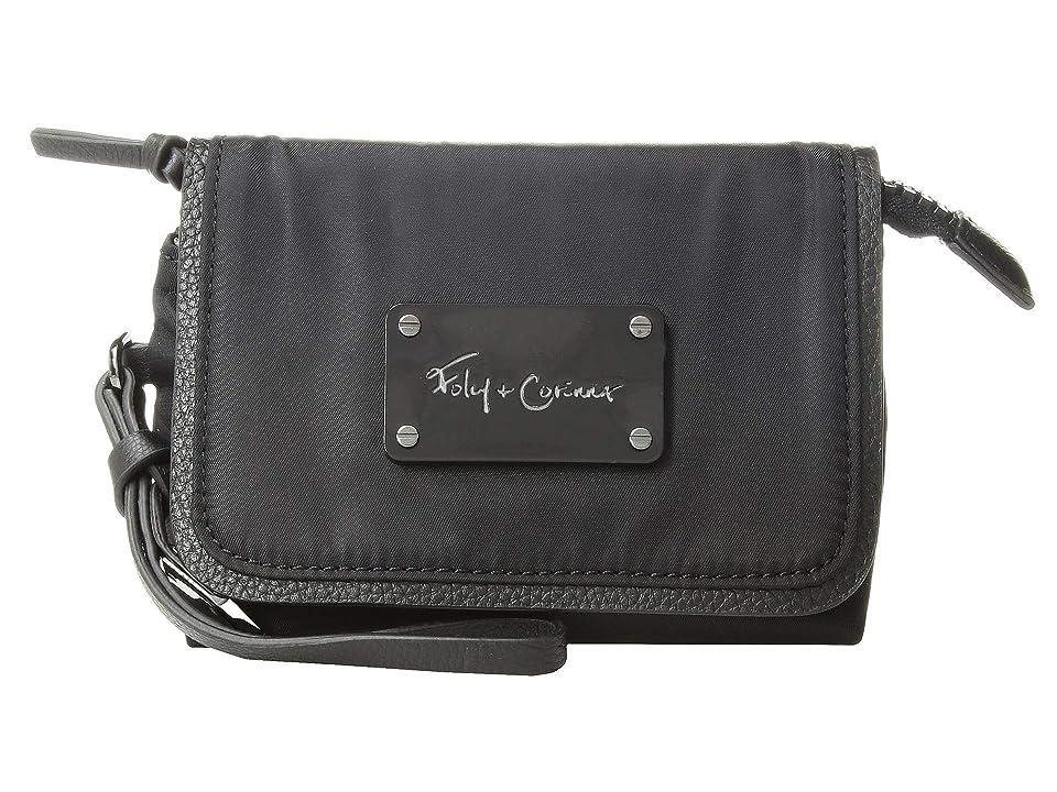 Foley & Corinna City Eclipse Flap Cosmetic Wristlet (Black) Handbags