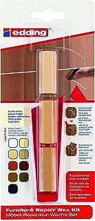edding 8901 möbler reparation vax set – 3 blandade färger – bok-lönn – för att ta bort repor och repor på möbler och trä....