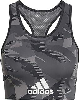 adidas W Camo Bt Women's Sports Bra, Womens, Sports Bra, GM7156, Oxiver/Amaaci