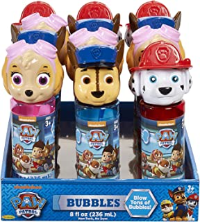 Nickelodeon Little Kids Paw Patrol Skye Marshall Chase 8oz Bubbles and Wand Character Party Favor Pack, 12 Pack, Multi