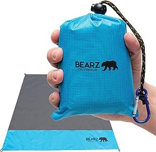 BEARZ Outdoor Beach Blanket, Waterproof Picnic Blanket 55″x60″ – Lightweight..