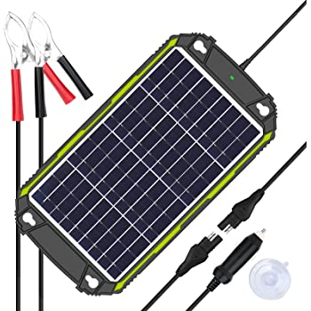 Amazon Com Powoxi Solar Panel 12v 10w Magnetic Solar Battery Charger Maintainer Built In Intelligent Charge Controller Waterproof Solar Trickle Charger Alligator Clip For Car Rv Motorcycle Marine Etc Garden Outdoor