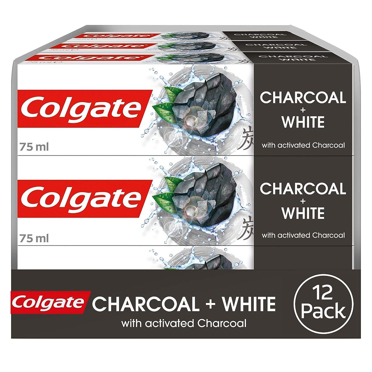 与える香り素朴な[Colgate ] コルゲート天然抽出物の炭+ホワイト歯磨き粉75ミリリットル - Colgate Natural Extracts Charcoal Plus White Toothpaste 75Ml [並行輸入品]