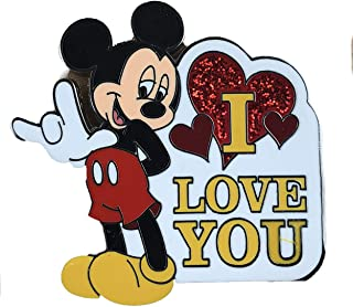 Disney Parks Mickey Mouse Trading Pin I Love You Sign Language