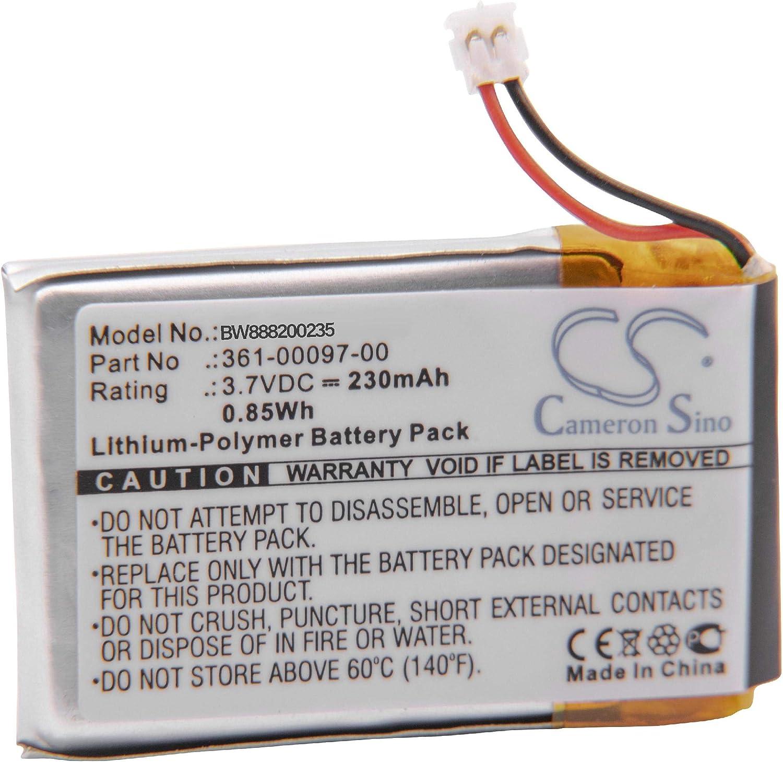 vhbw Batería Recargable Compatible con Garmin Fenix 5, 5s, 5X smartwatch, Reloj de Actividad (230 mAh, 3,7 V, polímero de Litio)