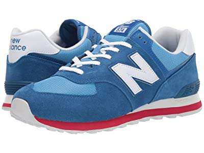 New Balance Classics ML574v2 (Classic Blue/Team Red) Men